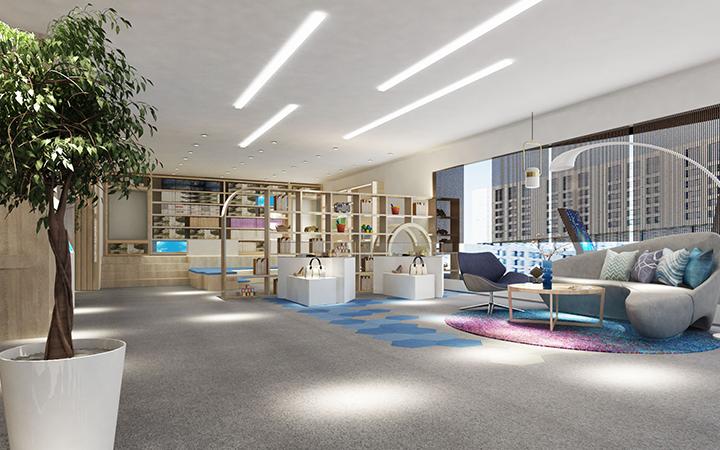民宿酒店样板间设计室内装修设计效果图鸟瞰图制作渲染VR全景
