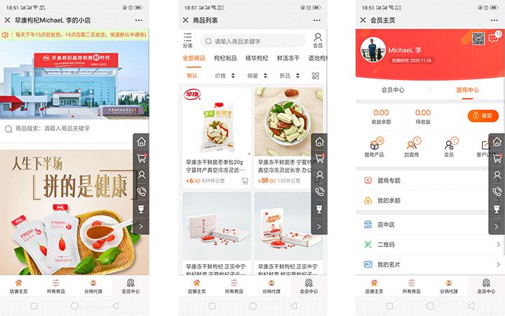 3+3渠道版公众号开发微信商城分销代理全网微信开发快消品食品