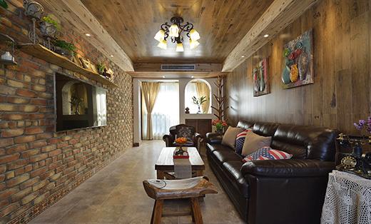 美式乡村风格二居室86平米