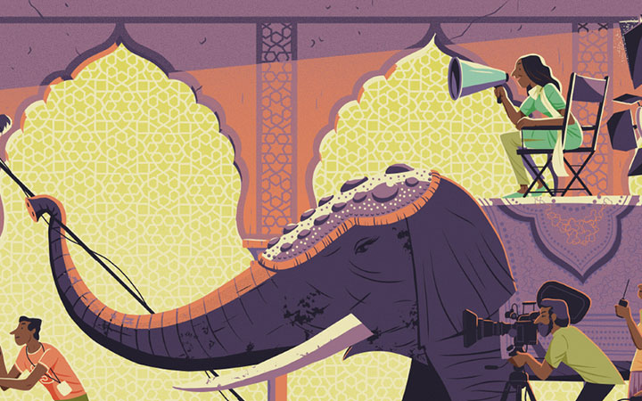 手绘国潮插画设计人物商业动漫画集定制头像代画AI素材儿插绘本