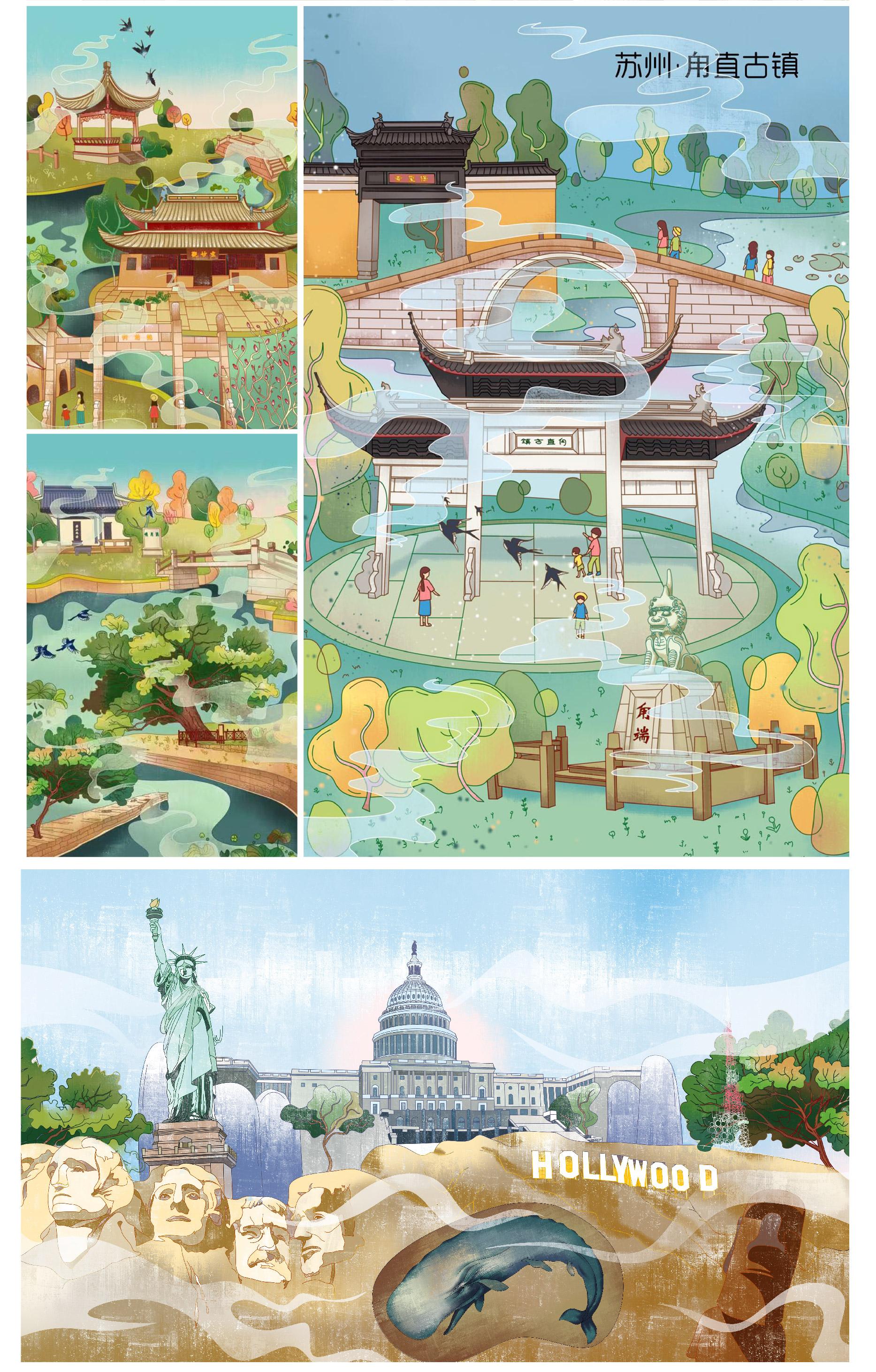 漫画插画设计动物卡通人物绘本唯欧美日式商业包装广告图时尚写实