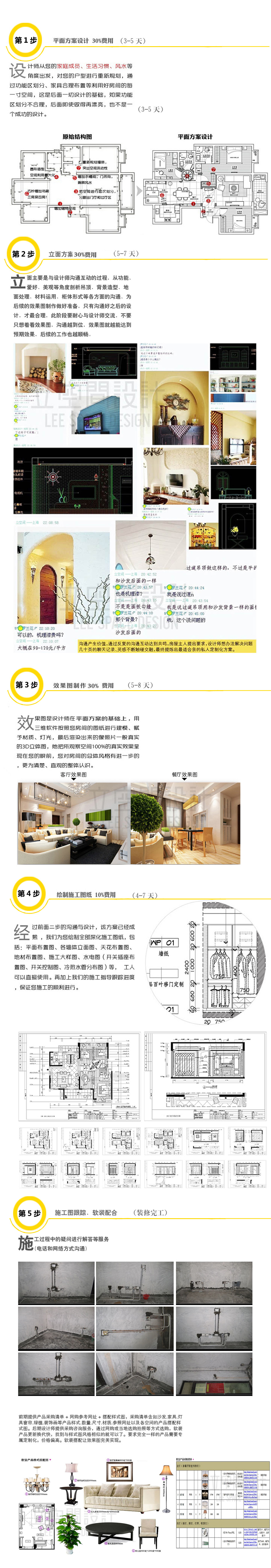 室内家装设计新中式别墅复式装修施工图效果图软装设计建筑模型图