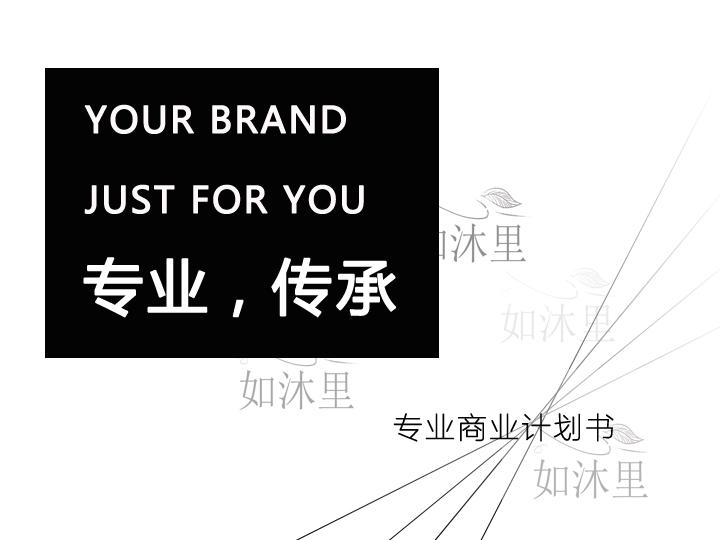 零售百货服装服饰电子家电休闲品牌管理咨询品牌全案商业计划书
