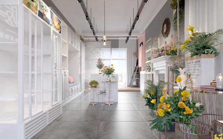 餐饮购物办公空间门头新房装修效果图专卖店展会展厅公装服务设计