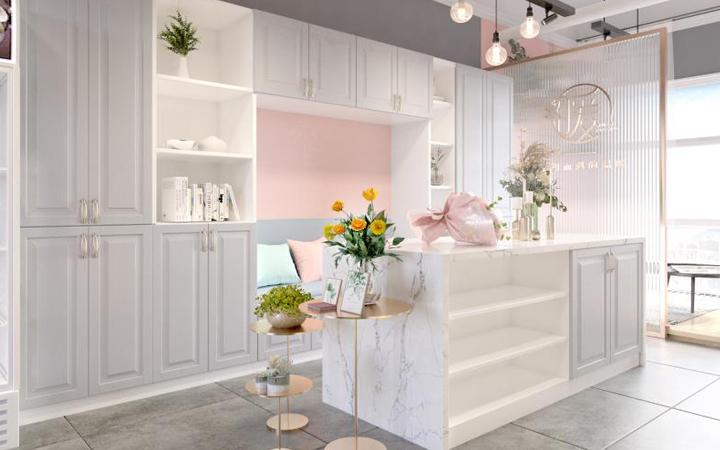 SI连锁品牌门头展会展厅公装专卖店服务效果图家庭装修空间设计