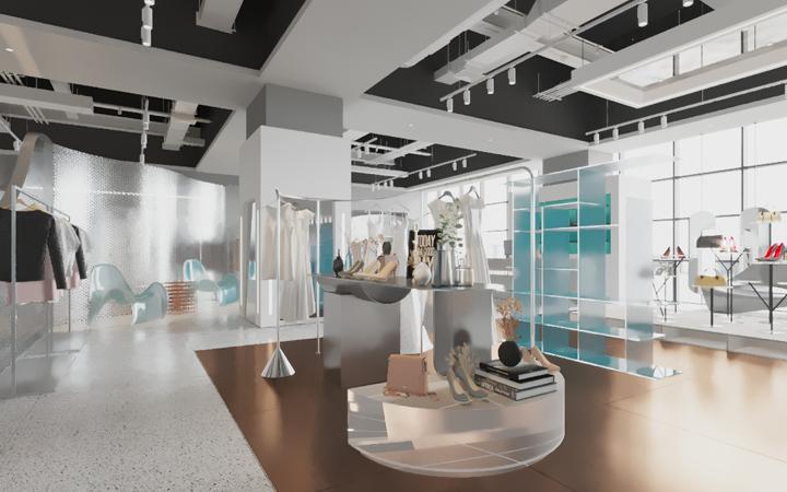 【金墨】展会展厅门头公装餐饮办公购物空间效果si家装服务设计