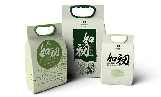艺雲-如初大米包装设计