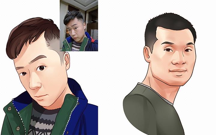 专业设计绘制个性人物肖像画像卡通头像Q版动漫头像微信定制写实