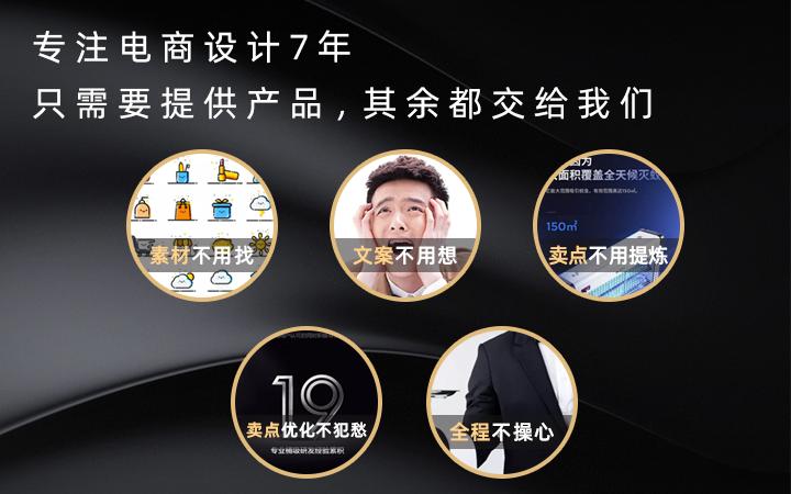 淘宝天猫京东阿里巴巴拼多多速卖通国际站网店详情页设计制作描述