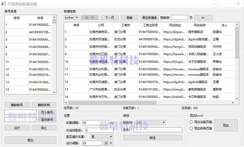 店铺数据采集/商品数据采集/互联网数据采集/电商数据采集