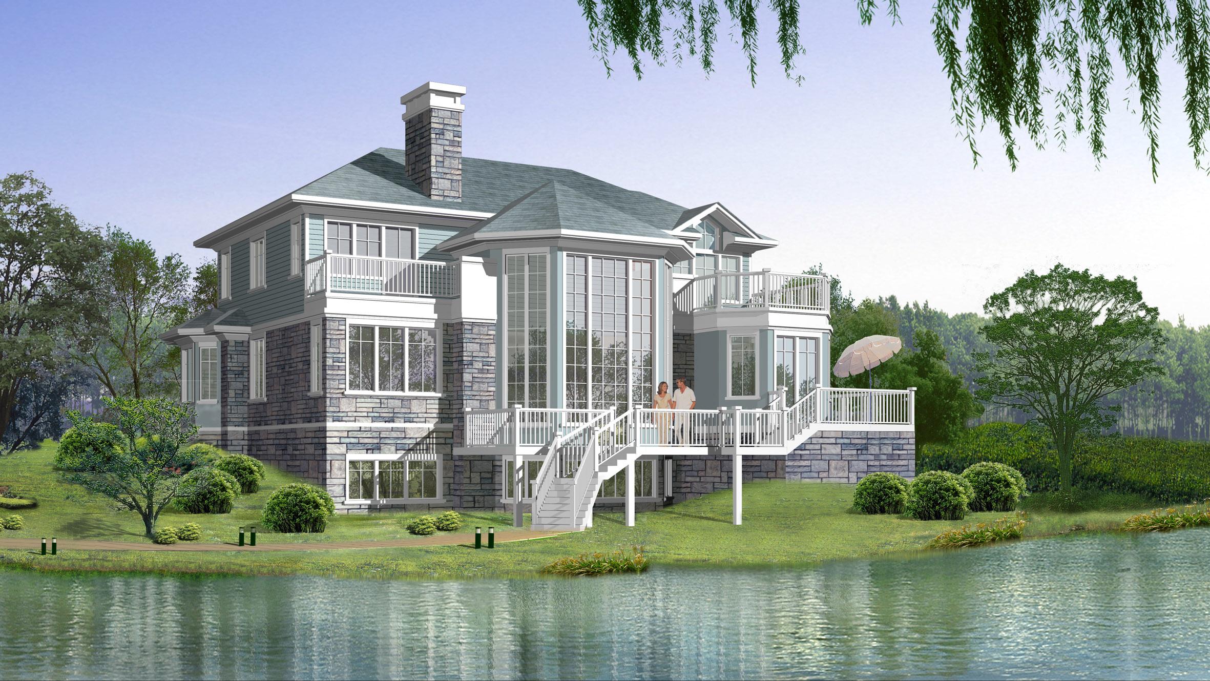 别墅设计自建房设计房屋设计建筑设计工民宿程设计庭院景观设计