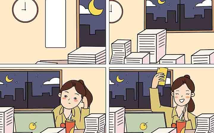 创意营销漫画-四格漫画-卡通漫画-公众号插画漫画-宣传推广漫