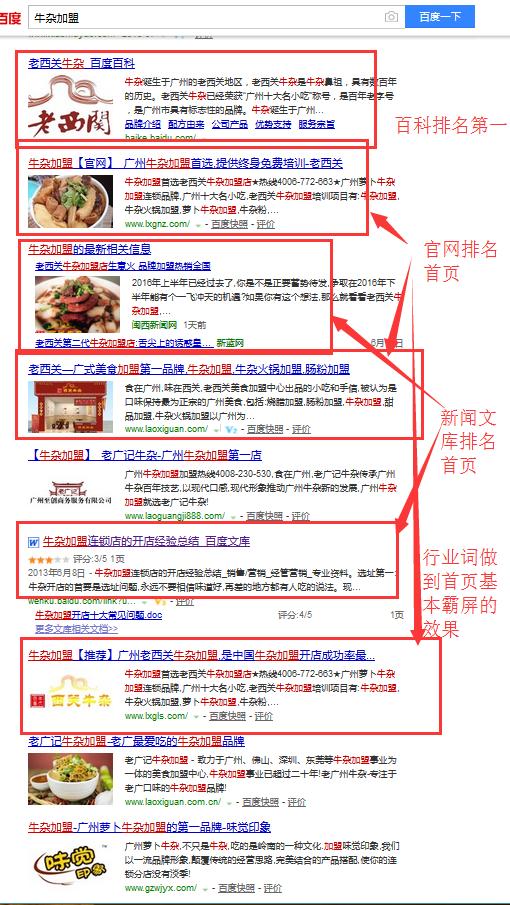 搜索引擎品牌营销-品牌传播排名霸屏案例