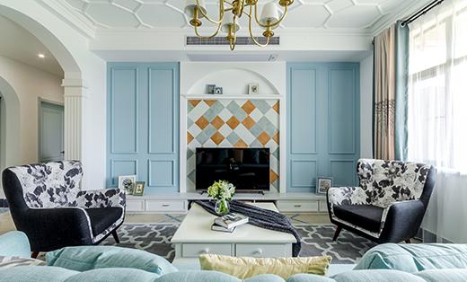 美式淡雅风格三居室135平米
