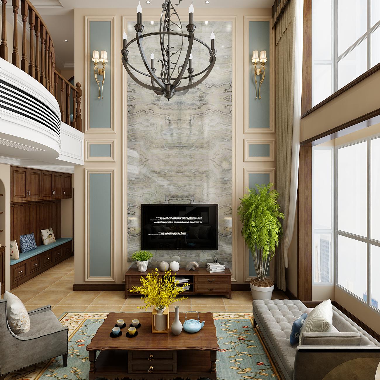 别墅装修设计家装设计装修 别墅设计效果图 样板间设计