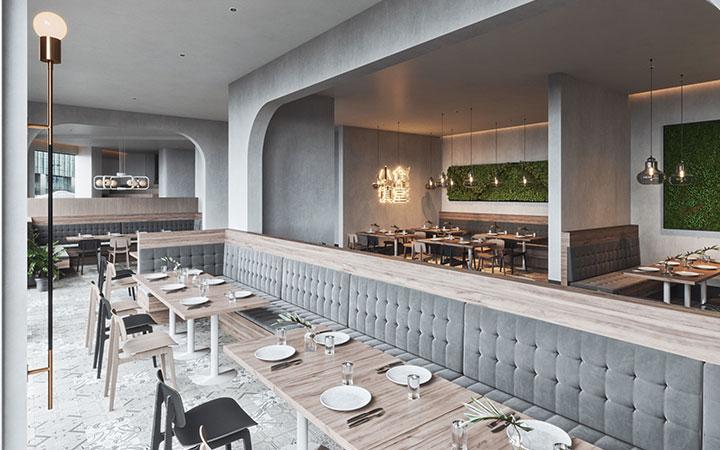 办公空间设计展厅餐饮店面KTV公装室内家装修效果图SI连锁店
