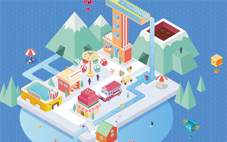 穆朗品牌插画设计包装插画商业创意书籍报纸公司企业杂志插画设计