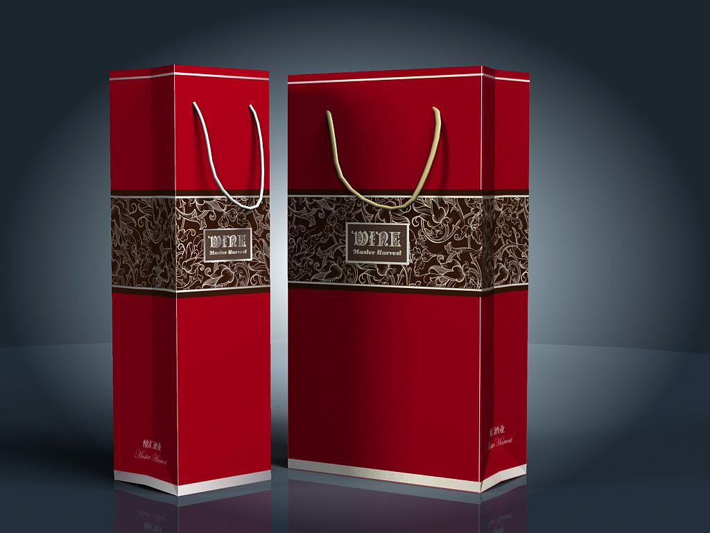 手提袋设计礼品袋包装袋设计手绘插画手提方便袋购物袋礼品袋设计