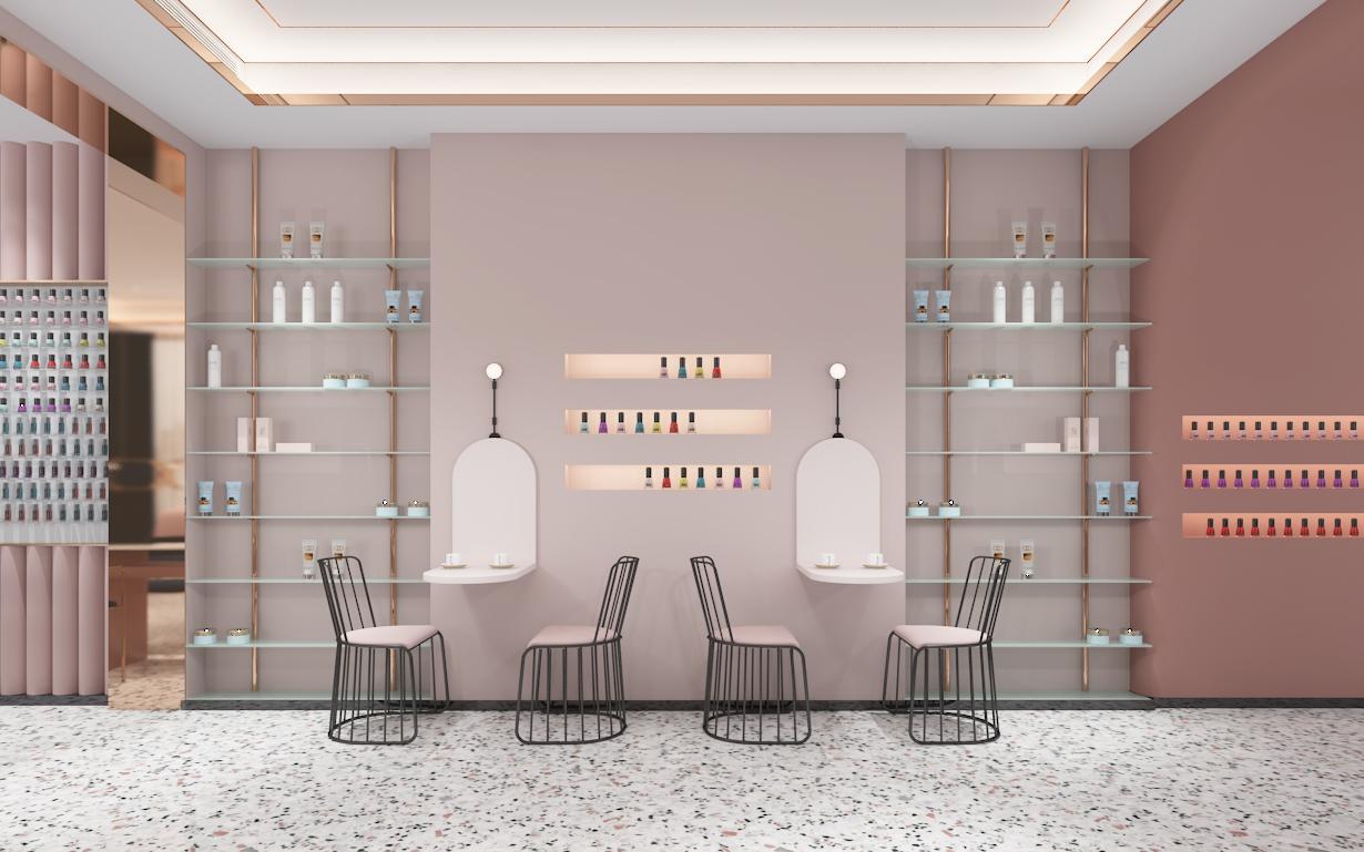 公装室内设计 美甲店设计装修 美容店室内设计 美发店设计装修