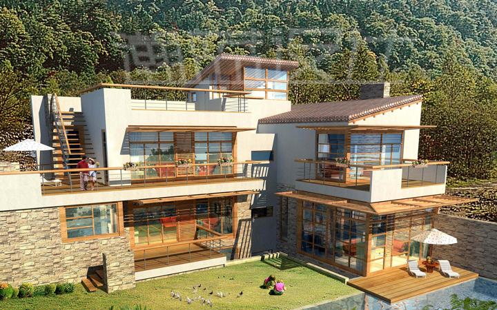 自建房设计、平面布局设计、外观效果图设计、立面设计、装修设计