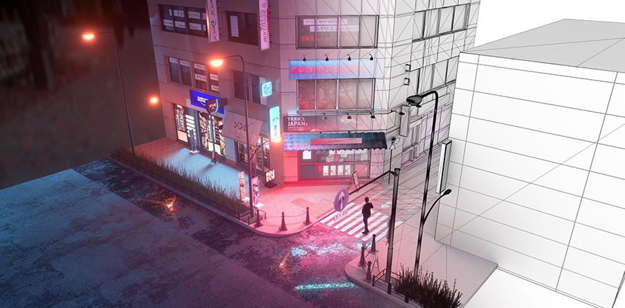 _景观设计效果图鸟瞰图彩平图动画vr设计5