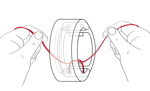 戒指说明书示意图设计