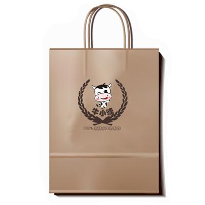 牛小糖店铺vi识别系统设计——购物纸袋