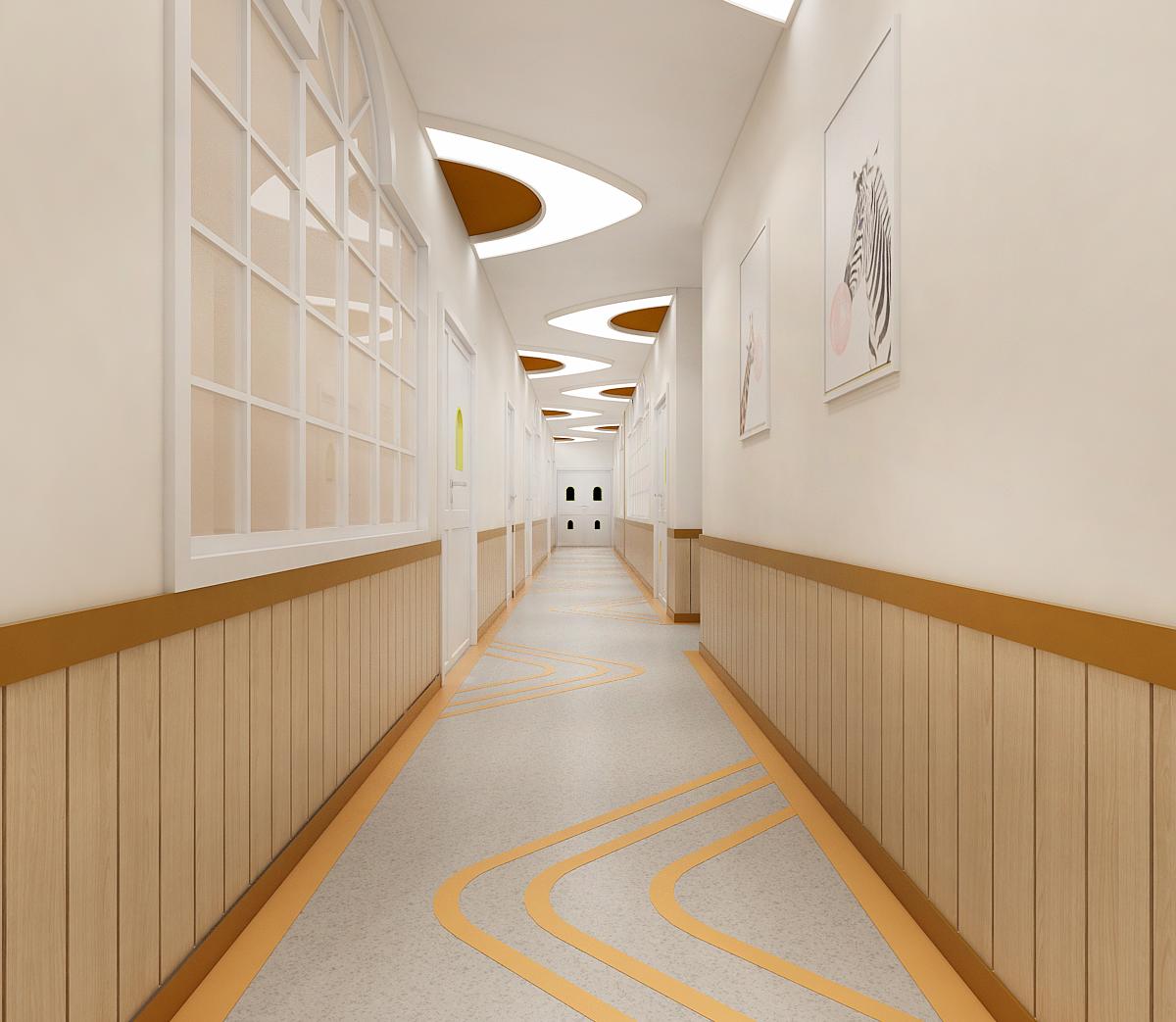 公装设计室内设计 教育机构设计 空间室内设计 图书室空间设计