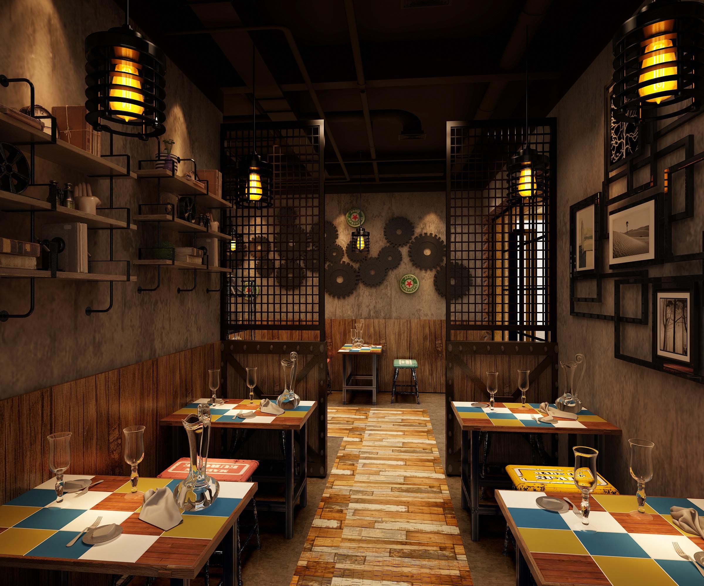 店面设计,店铺设计,室内设计,效果图,餐厅装修设计餐饮店设计