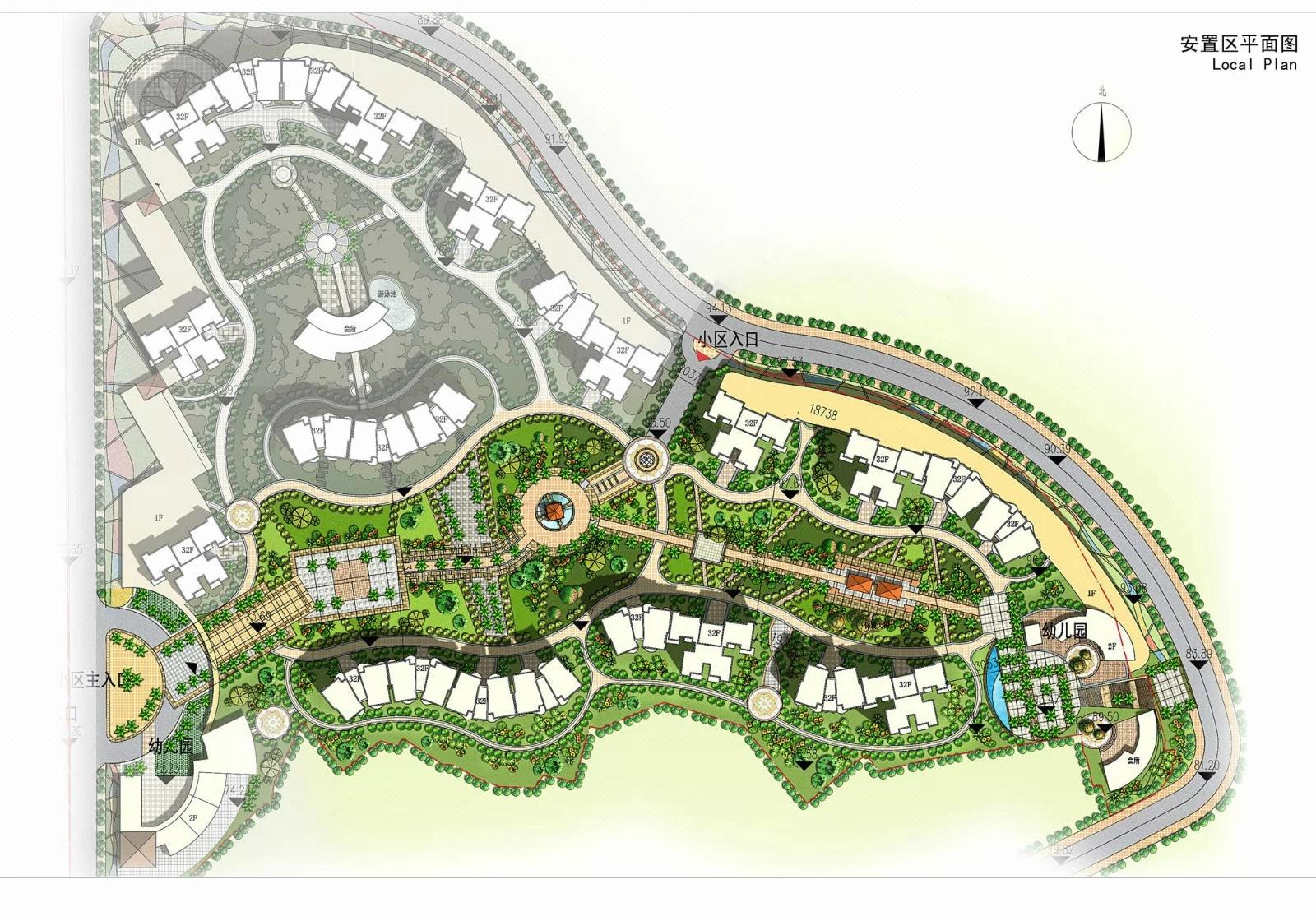 住宅小区规划设计,特色小镇民宿规划设计,规划设计彩平图效果图