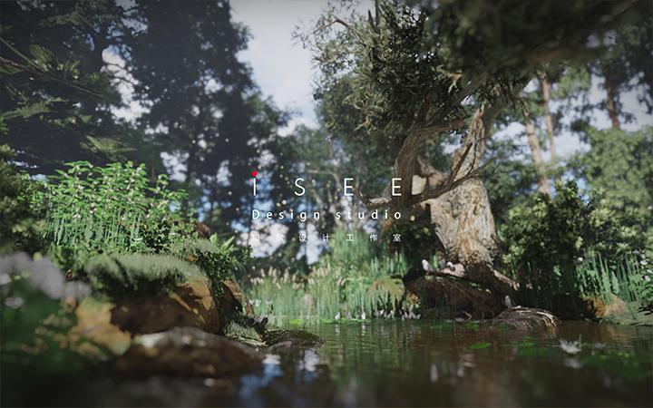 景观设计效果图鸟瞰图彩平图动画vr设计