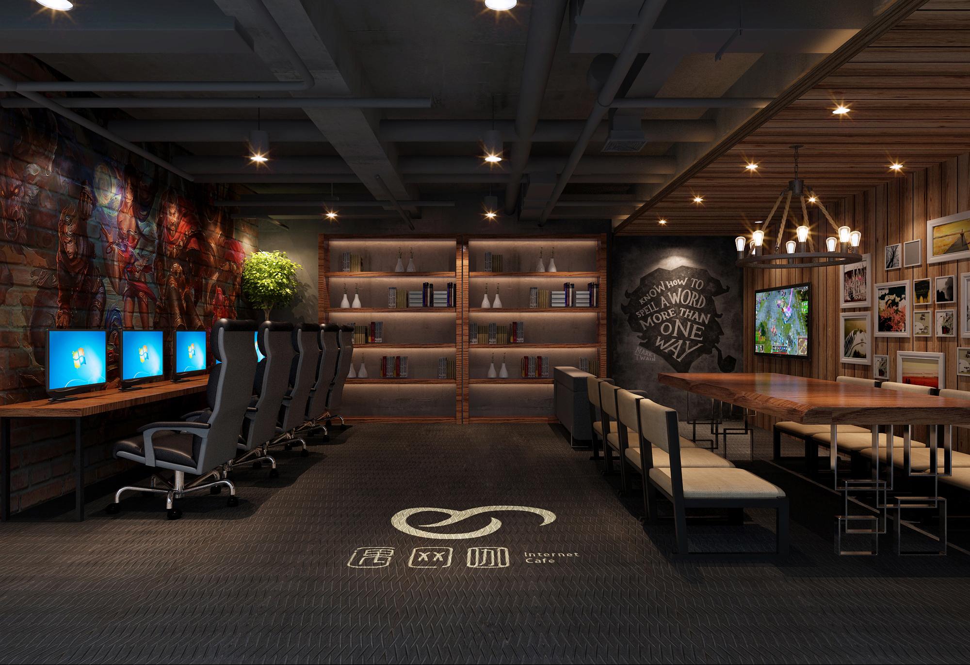 【東舍设计】电竞网咖设计网咖设计网吧设计装修设计效果图
