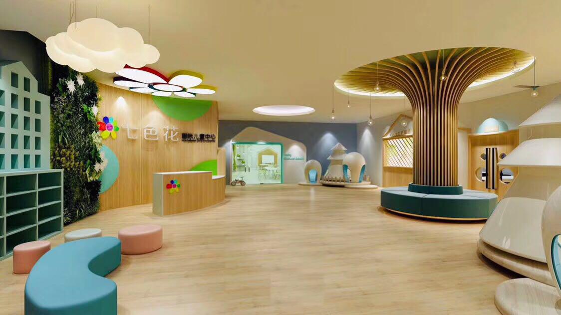 幼儿园早教中心培训机构教育机构琴行设计效果图装修VIS设计
