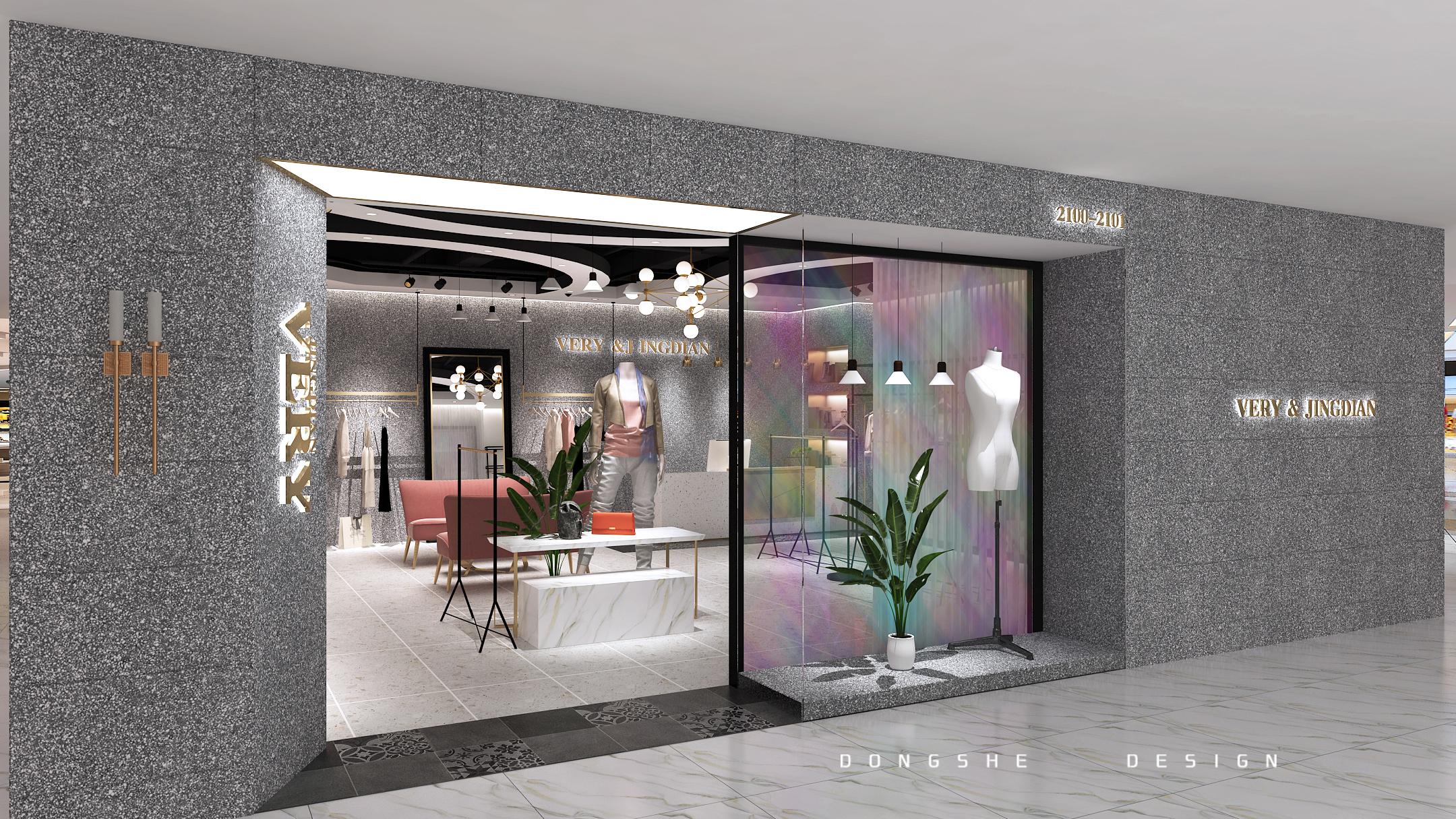 【東舍设计】服装店设计装修设计公装设计效果图制作室内设计