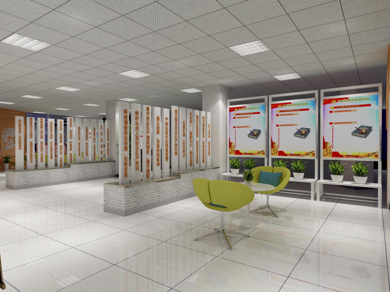 展厅设计展厅装修效果图党建展厅建材展厅工厂展厅展厅展示
