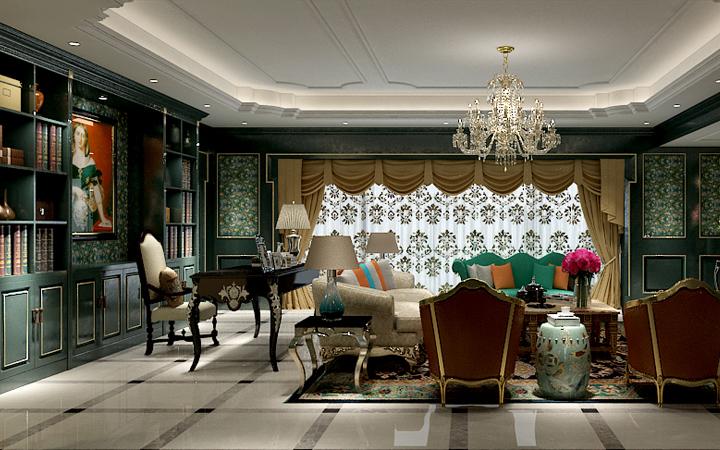 欧式风格、欧式设计、家装设计、效果图、施工图、软装设计、装修