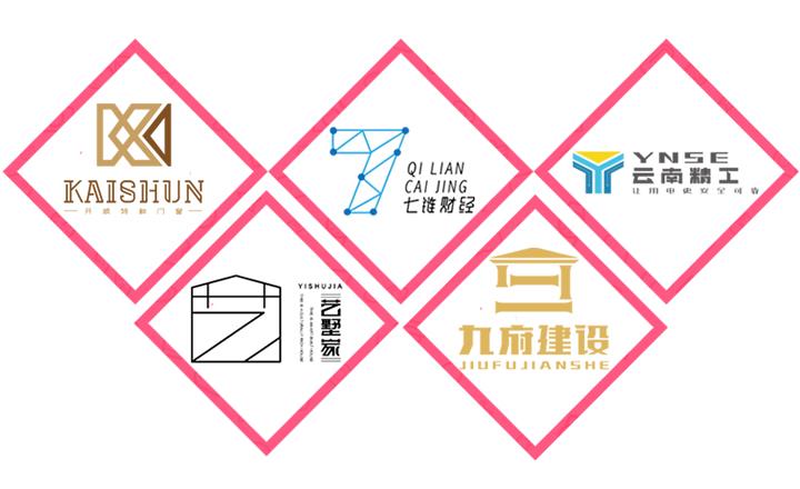 【特惠】企业标志卡通LOGO公司APP图标中英文logo设计
