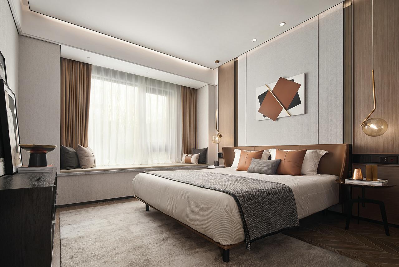 轻奢中式风格家装平面布局效果图施工图软装搭配全案设计