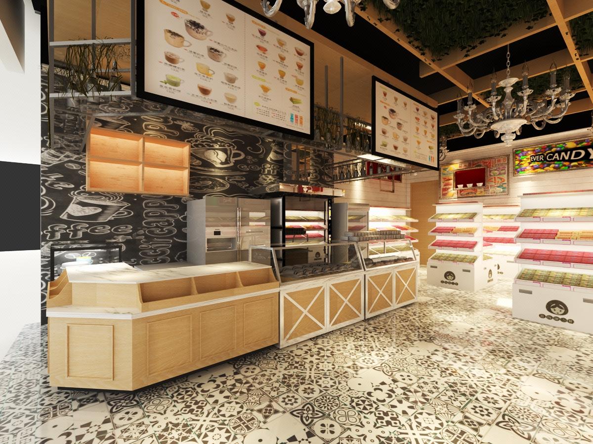 品牌策划店铺设计/零食奶茶店/服装珠宝店/室内装修设计效果图
