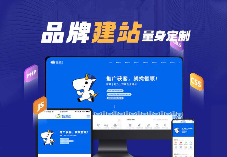 企业模板网站-企业官网基础建站快速上线二次开发仿站成品网站
