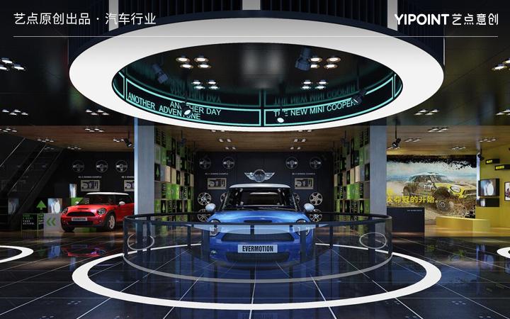 【原创设计】展厅设计展台展厅建模渲染展台设计3D效果图制作