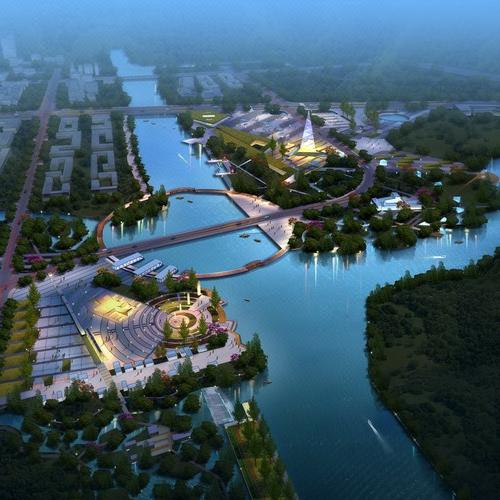 定制 建筑效果图鸟瞰效果图园林景观效果图3D室外模型制作设计