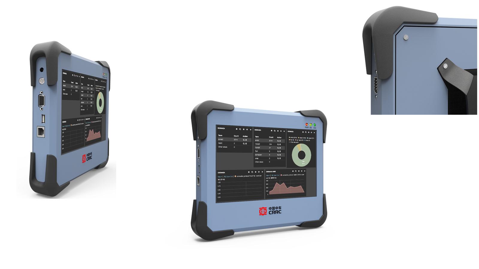 仪器仪表工业设计测试实验室安防手持机箱平板电力水质检测设备