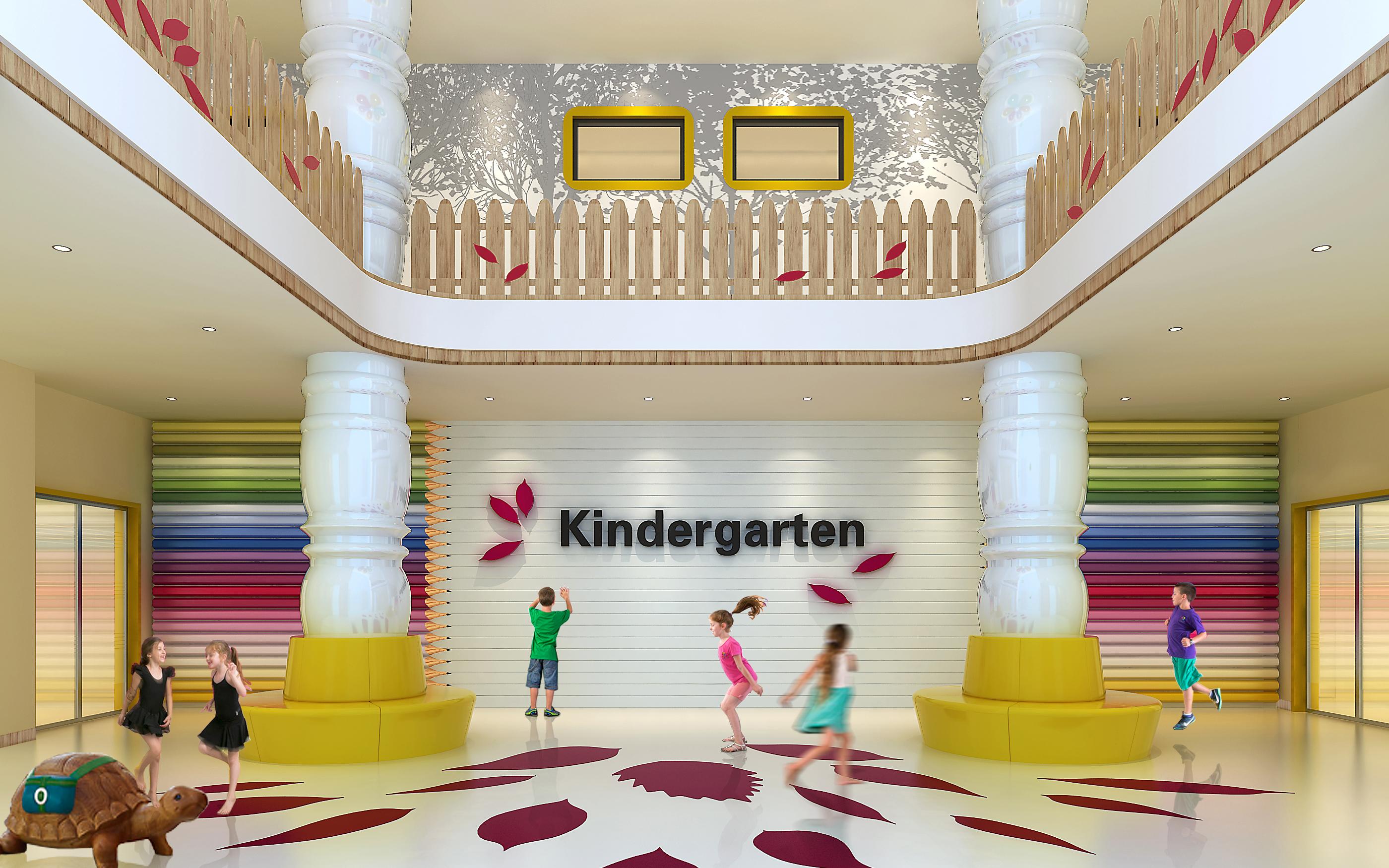 公装教育办公空间学校展会展厅培训班中学小学图书馆设计效果图