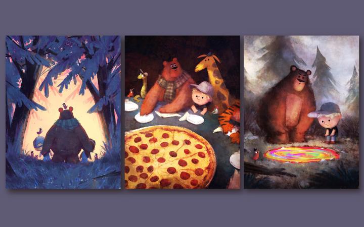 原创手绘商业插画卡通手绘设计卡通形象人物商业图吉祥物儿童国潮