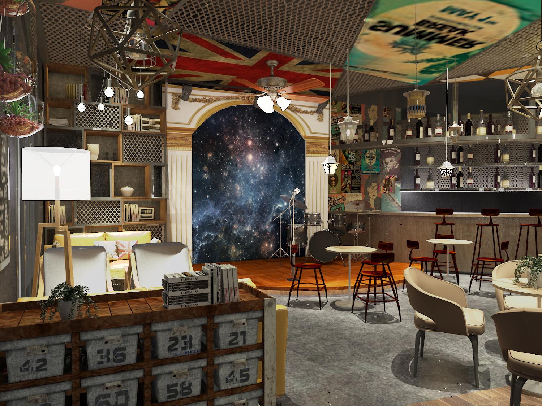主题特色咖啡店室内设计/茶饮奶茶/烘培面包蛋糕店效果图设计