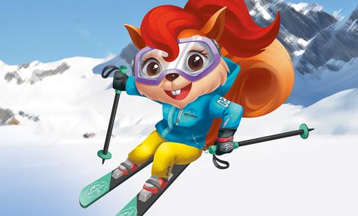 吉祥物设计黄家沟滑雪场(户外运动行业)金墨品牌设计