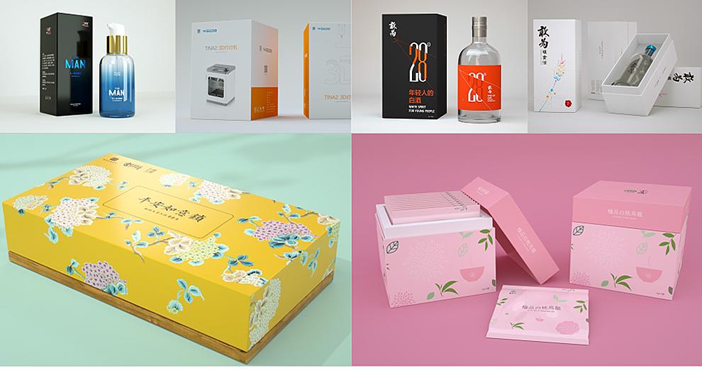 _各行业产品精美礼盒、袋装灌装,异形盒包装设计6