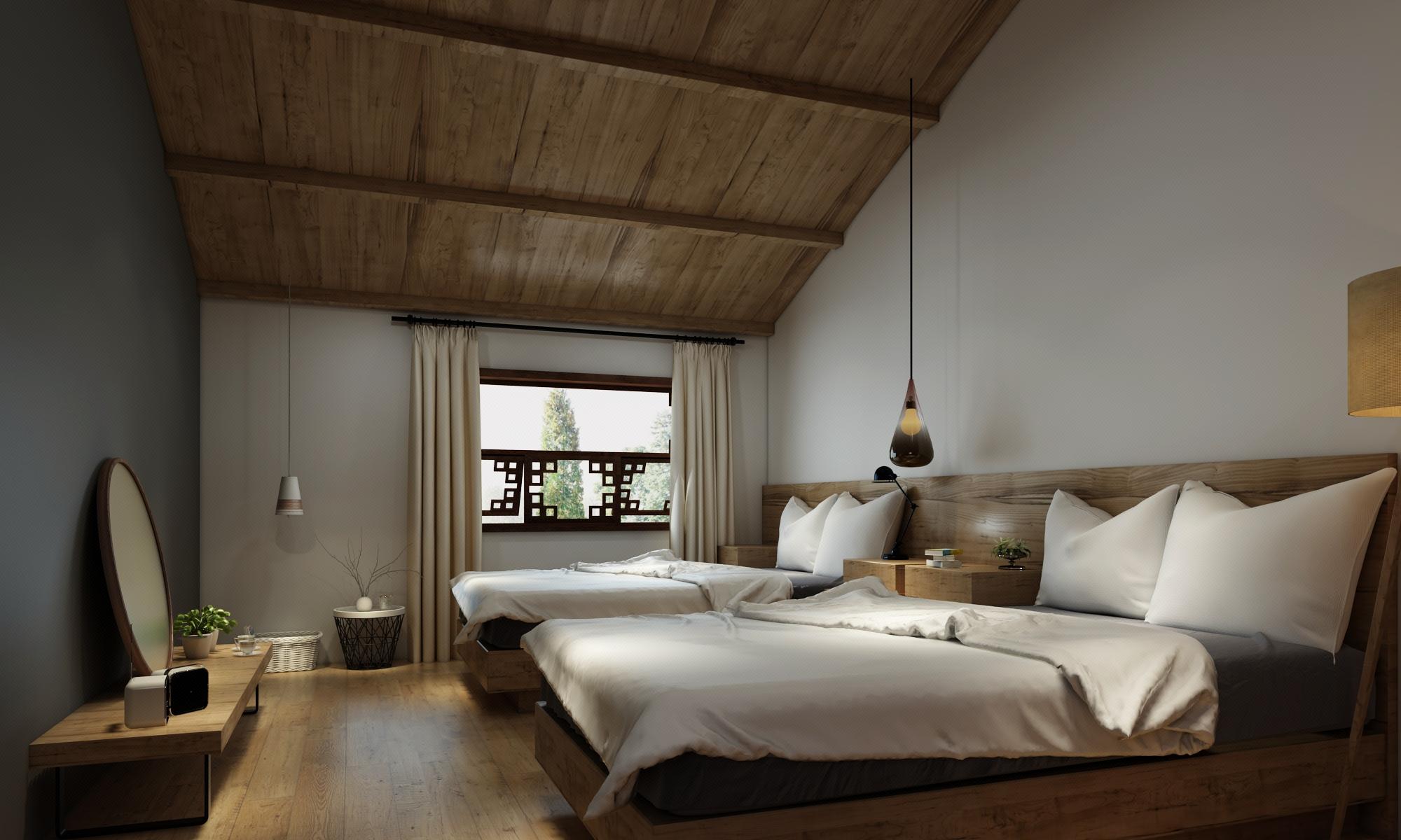 民宿客栈别墅庭院私家花园设计公寓复式楼屋顶花园露台自建房设计