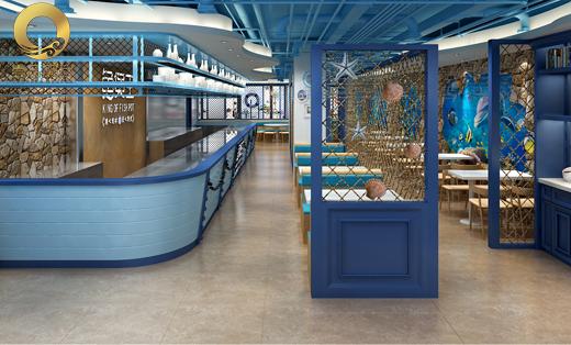 海洋主题鱼煲王连锁餐饮店铺设计